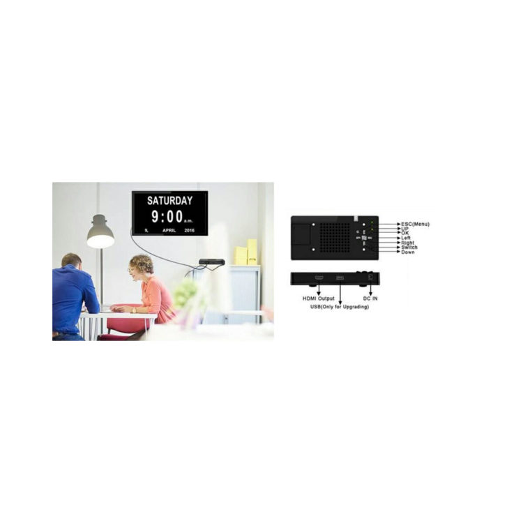 HDMI box met tijd, dag en datum weergave ST644115