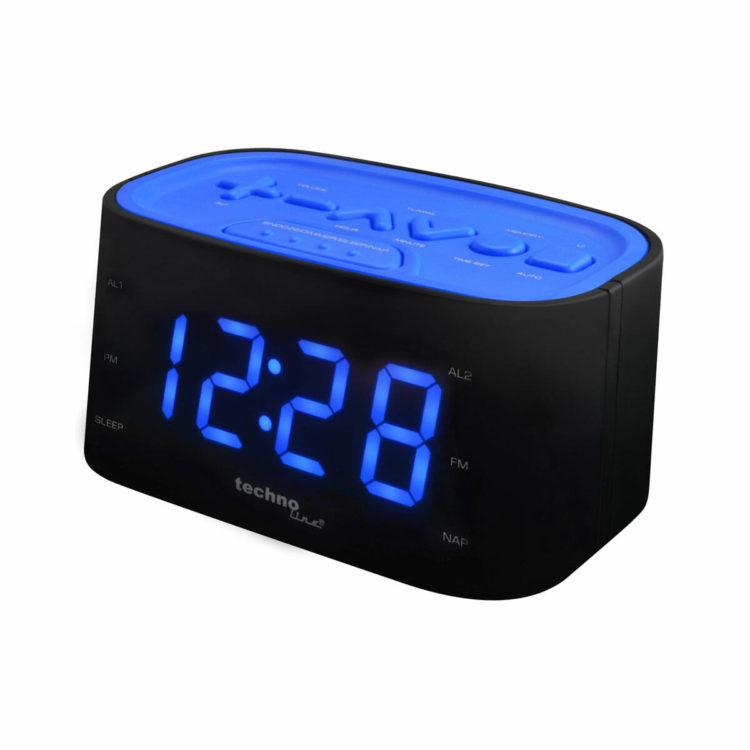 Wekkerradio blauw met duidelijke knoppen