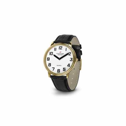 Montiel Low Vision herenhorloge double - Wit
